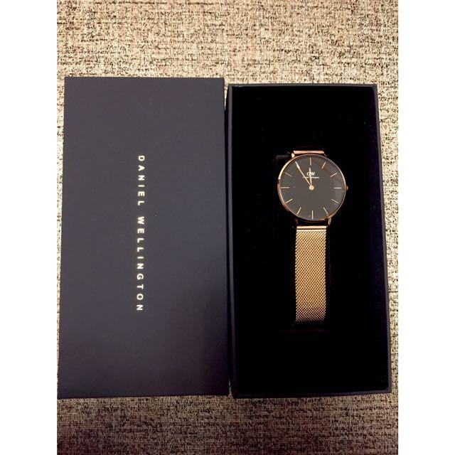 全新 Daniel Wellington 金色金屬錶帶手錶