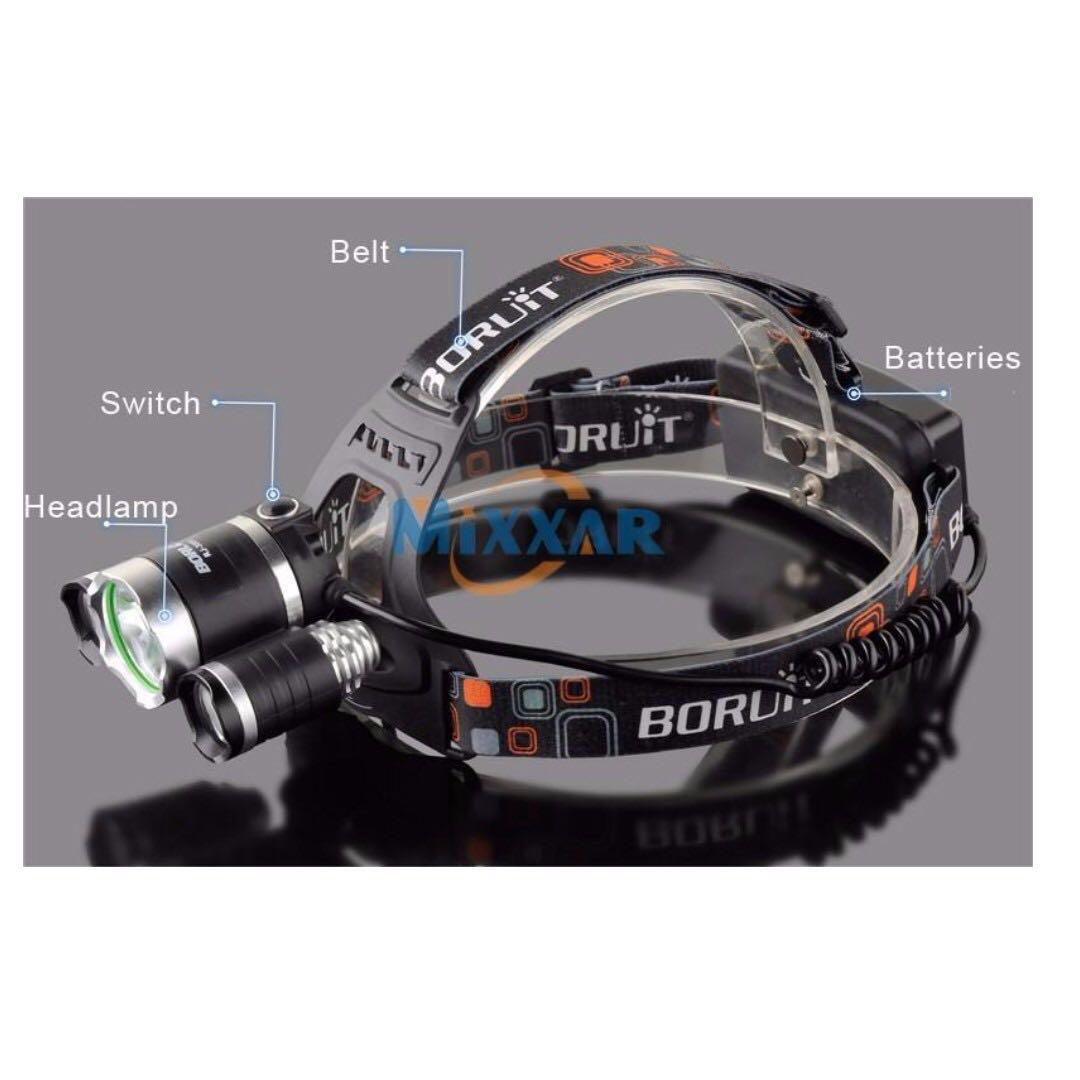 🔥 XM-L T6 LED Rechargeable Headlamp Headlight Torch 2000lumen 100m Beam Range
