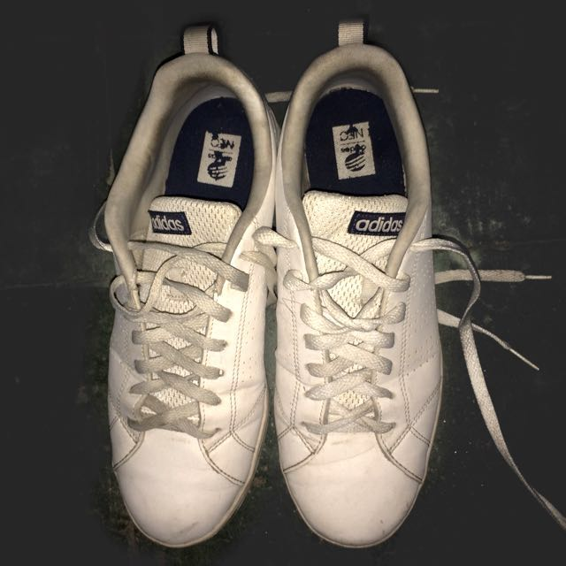 Adidas neo white authentic