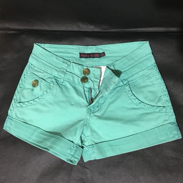 Angels + Wings Green Shorts