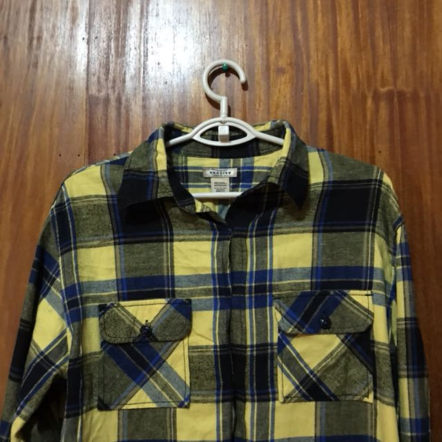 ARIZONA Yellow Checkered Long Sleeve