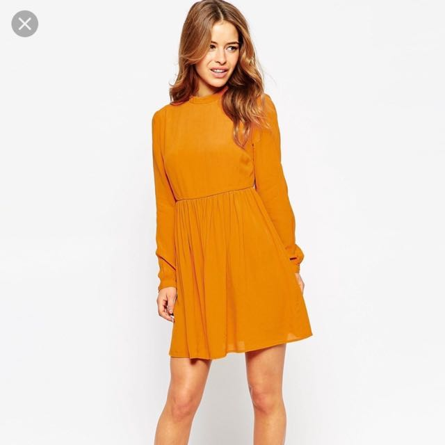 ASOS petite skater dress with lace up back
