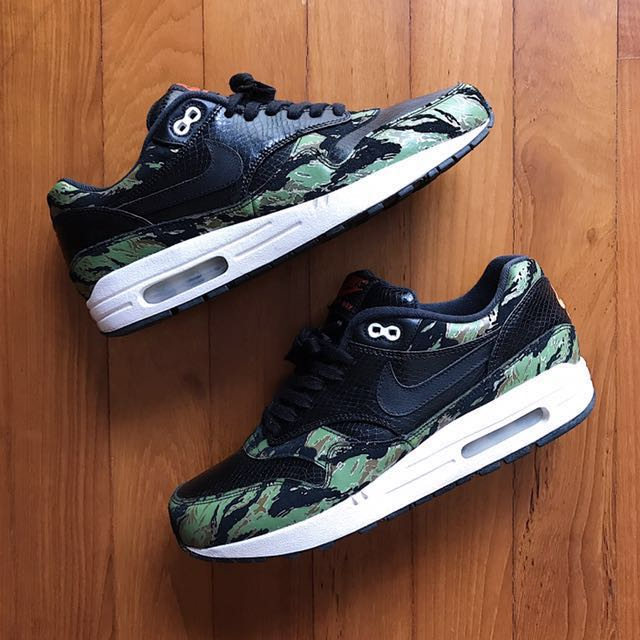 new style e4f94 c77ce Atmos x Nike Air Max 1 Tiger Camo, Men s Fashion, Footwear on Carousell