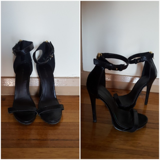 Atmos&here black strap heels size 5