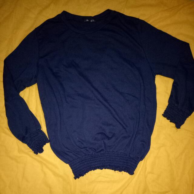 Baju Atasan Size Xl Warna Biru Gelap