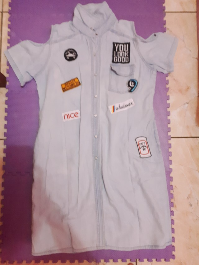 Baju Denim Patch