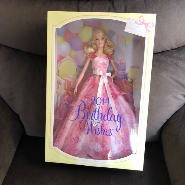 Barbie Birthday Wishes Collectible 2014 - Mint Condition