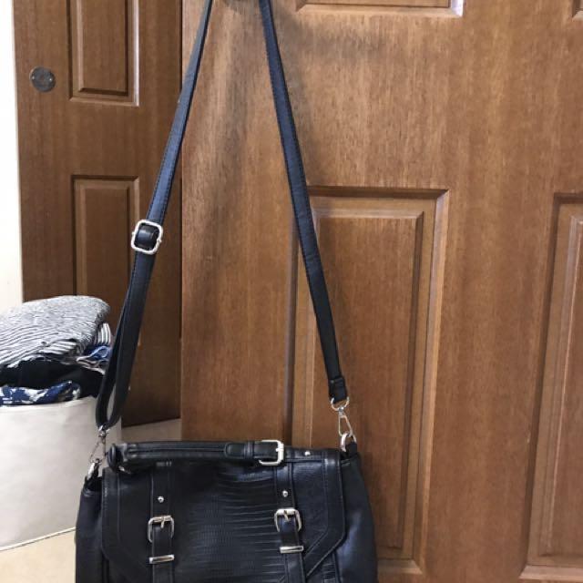 Black cross body bag/ handbag