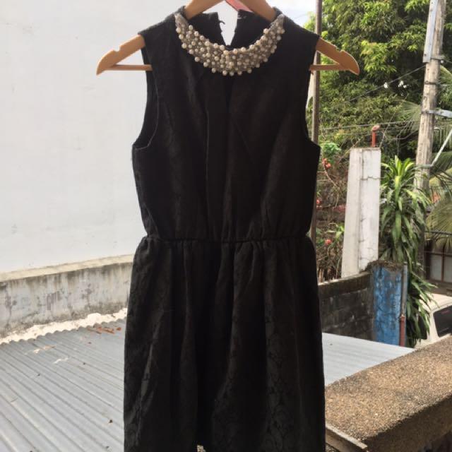 Black Dress with Embellishment