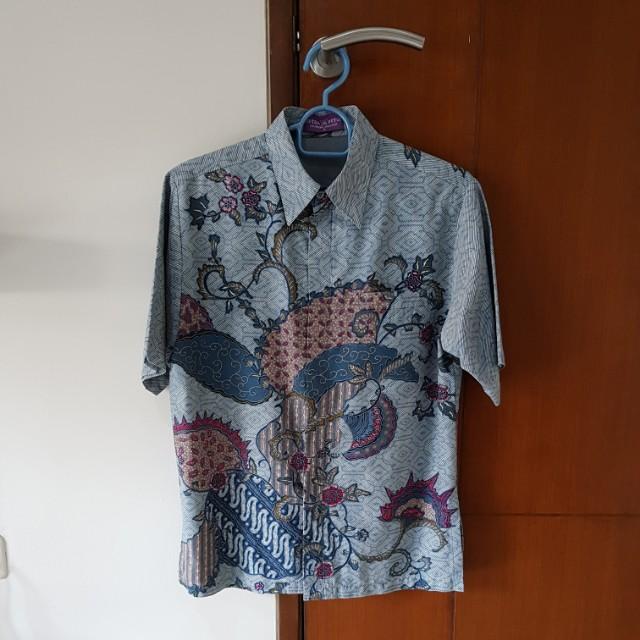 Blue batik shirt #awaltahun