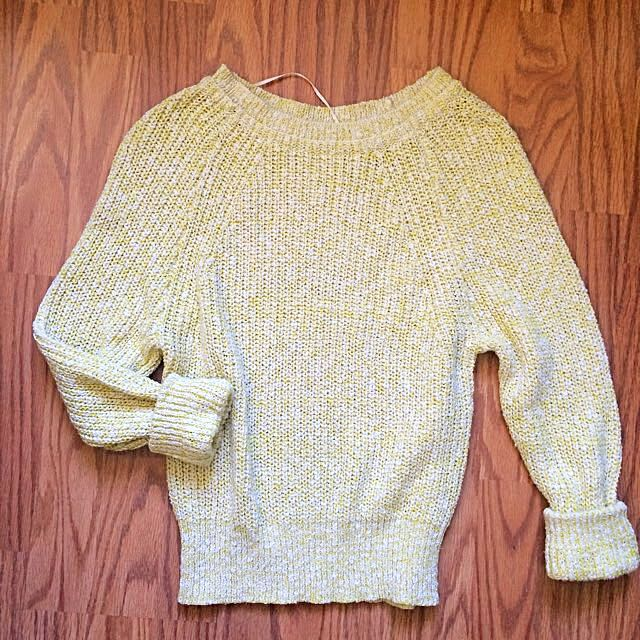 BNWOT Free People Yellow Sweater