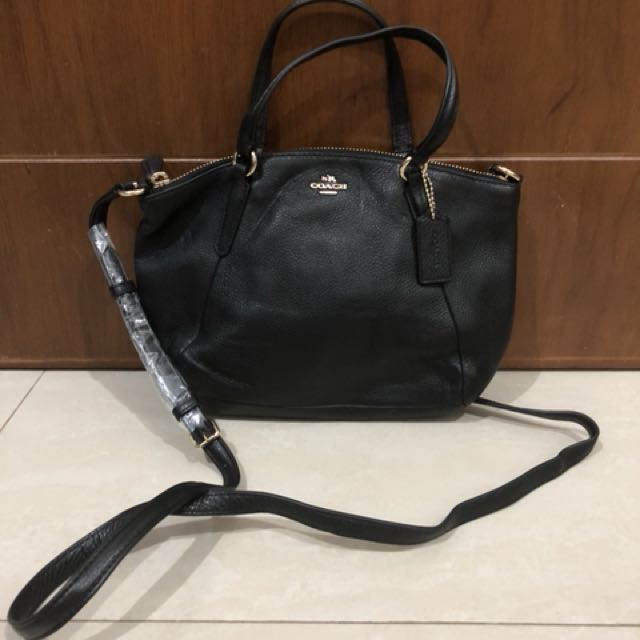 BNWT Coach Mini Kelsey Black/Gold