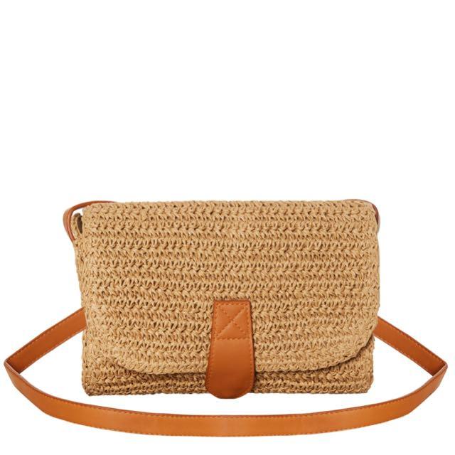 BNWT Swell Straw Handbag
