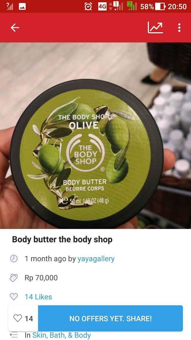 Body butter olive the body shop