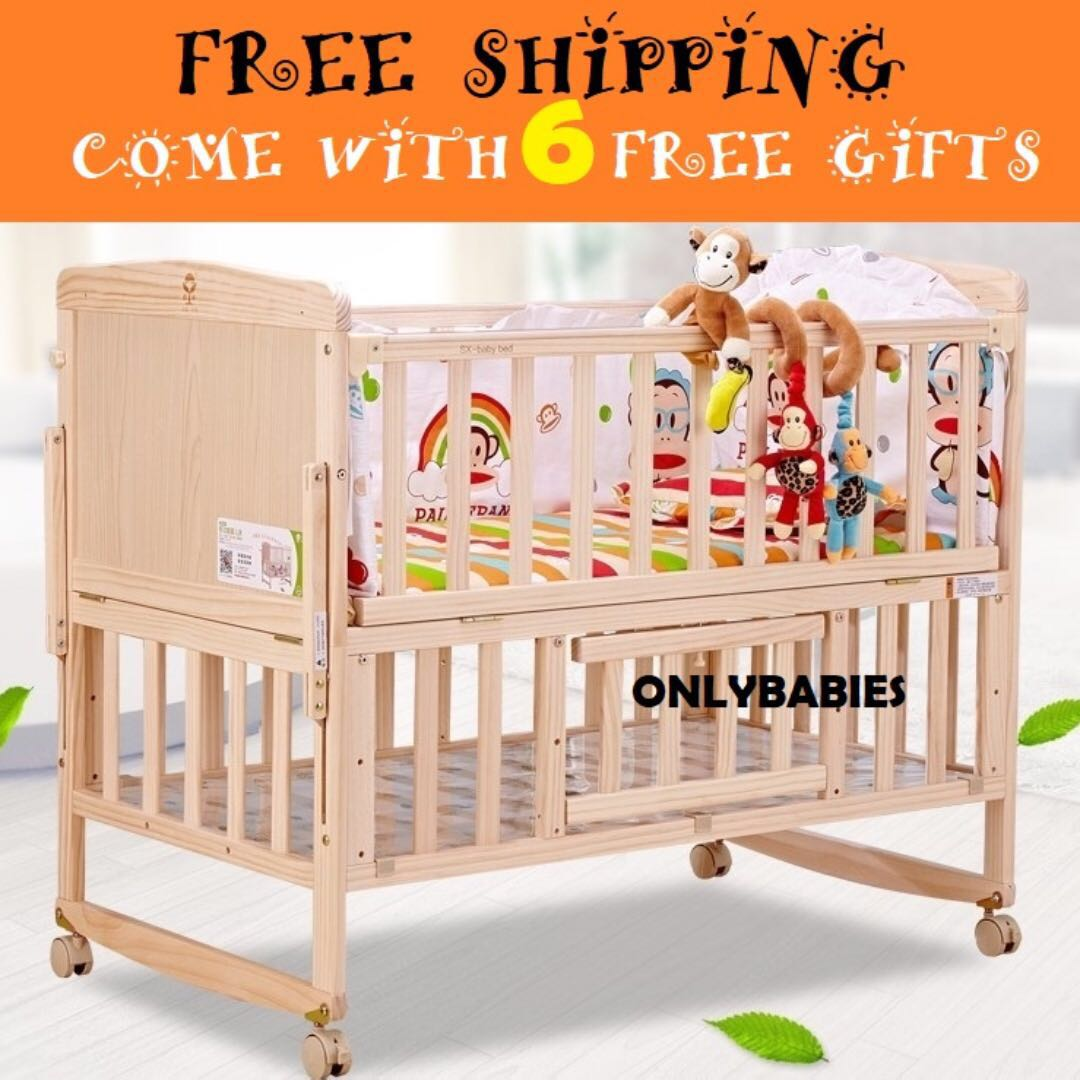 Babybed Aan Bed.Brand New Free Delivery Baby Cot Baby Bed Babies Kids Maternity
