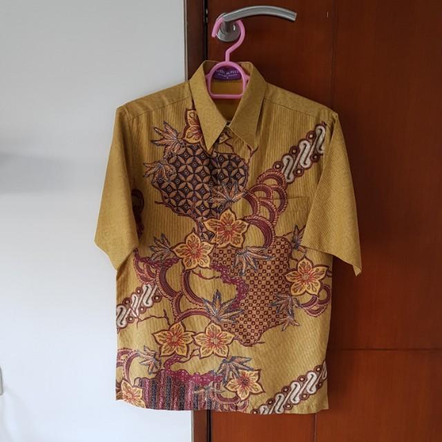Brown batik shirt