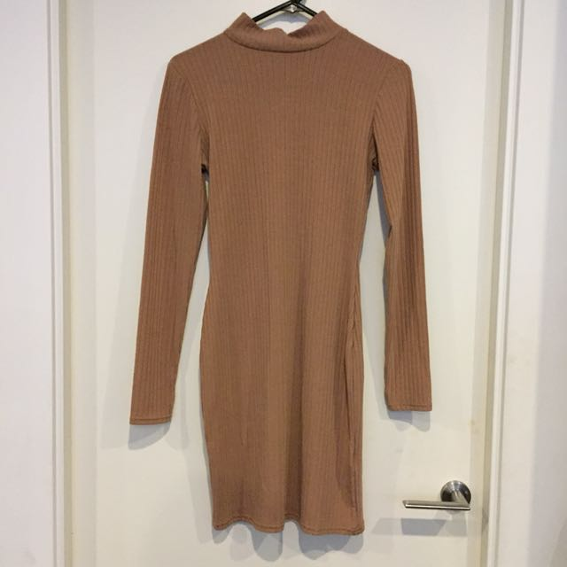 Camel Bodycon Dress