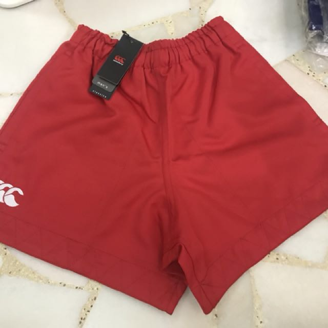Canterbury Rugby Poly on Field Short (Scarlet), Women's Fashion
