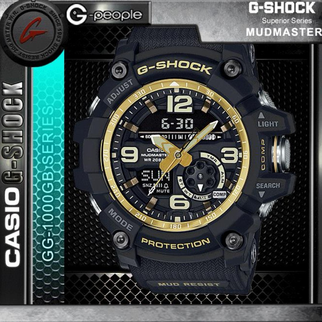 Jam Tangan Pria Casio G Shock Mudmaster Dualtime Limited Edition Gg 1000gb 1a Watch Original Mens