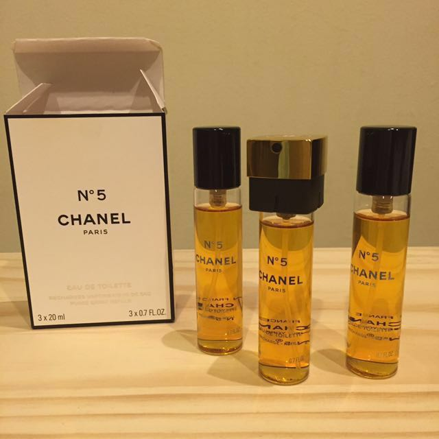 9c2f0ed50a35 ... chanel no 5 eau de toilette purse spray refills 3x20ml best ...