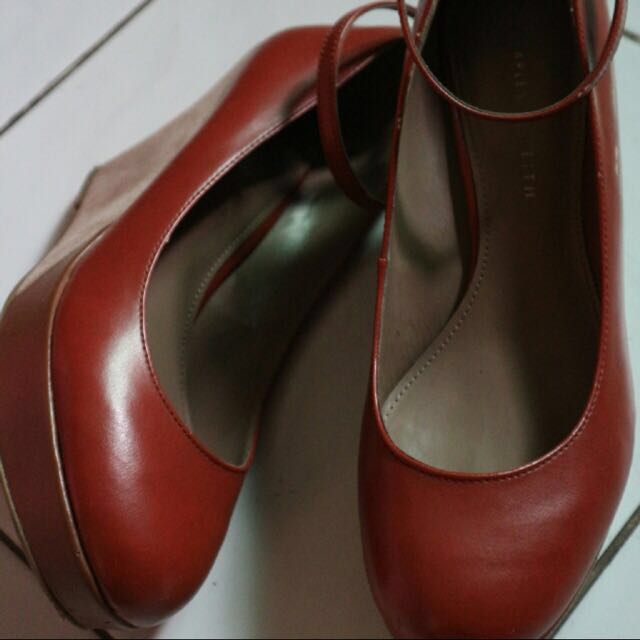Charles & Keith Red Wedges Shoes