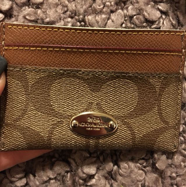 Coach hand card holder