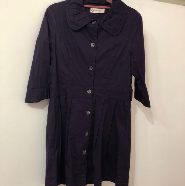 專櫃COTTON INN紫風衣