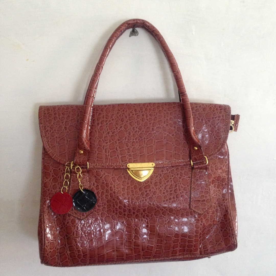 Croco Brown Bag