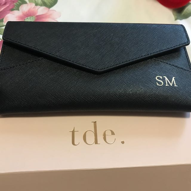 Daily edited black leather wallet