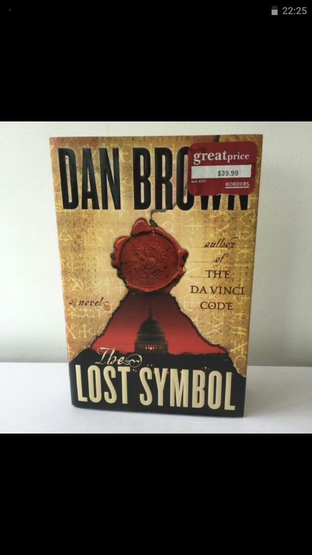 Dan Brown The Lost Symbol Hard Cover Books Stationery Fiction On
