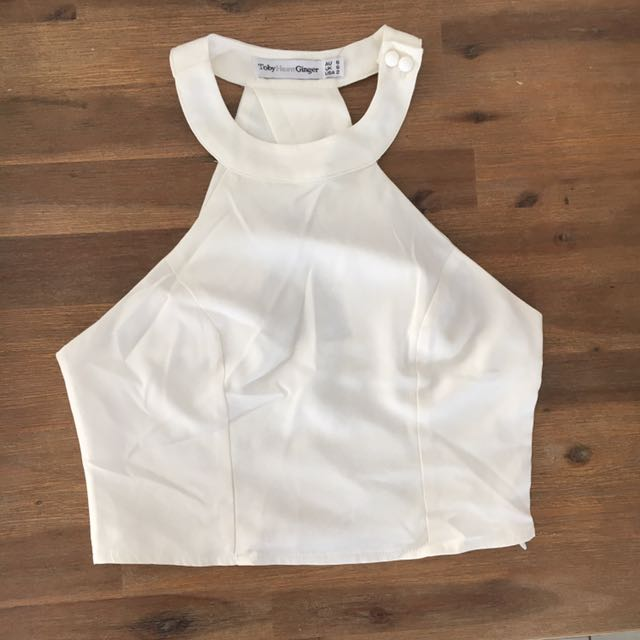 Dissh Boutique white Crop 6