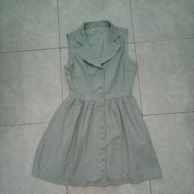 REPRICE!! Dress Korea Blue