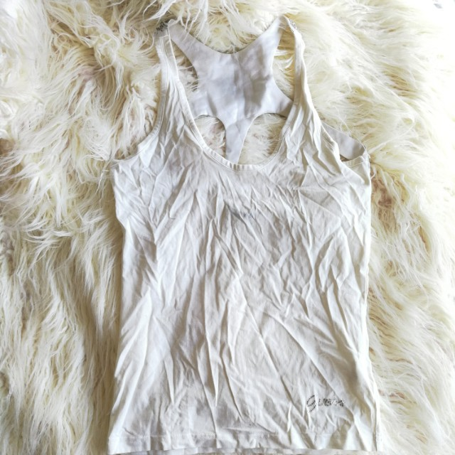 Embellished White Guess top, size M