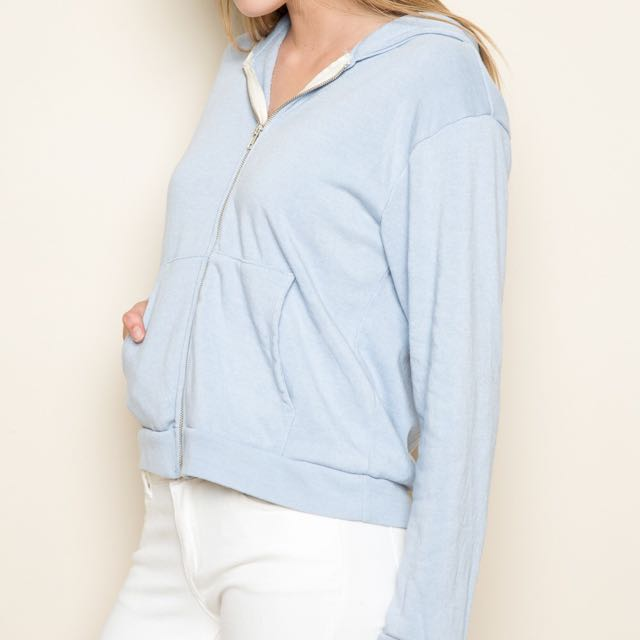 d4c4aab63a4 FCFS  BNWT authentic brandy melville blue kassidy hoodie