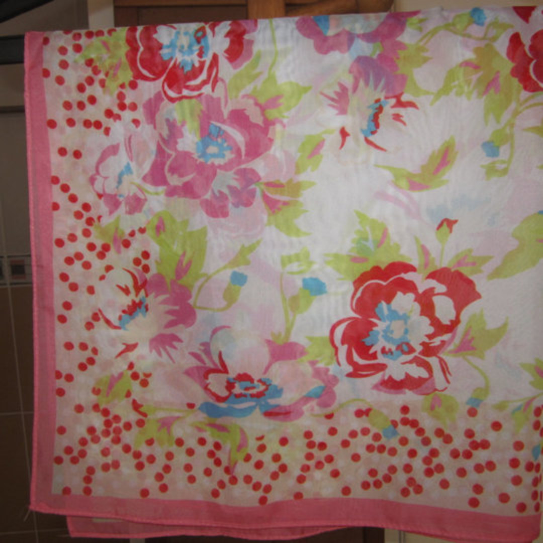 246fcb699eb8 FENDI INSPIRED AND PINK FLORAL SCARF