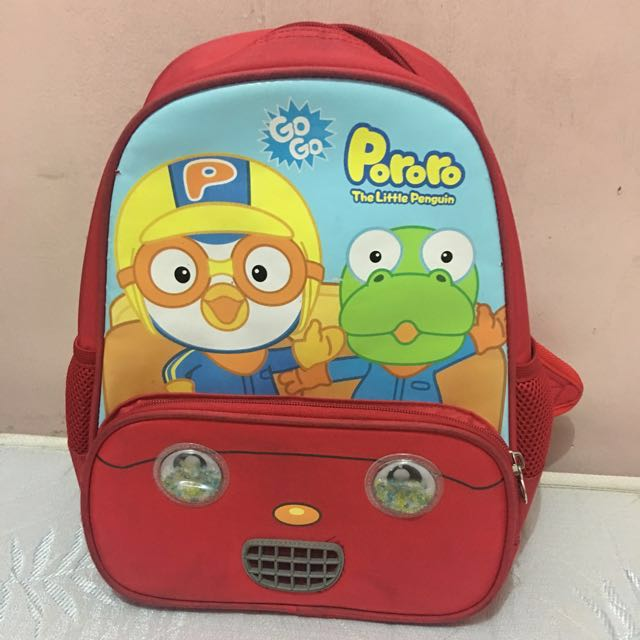 FLASH SALE: P150 Pororo Back Pack Red REPRICED