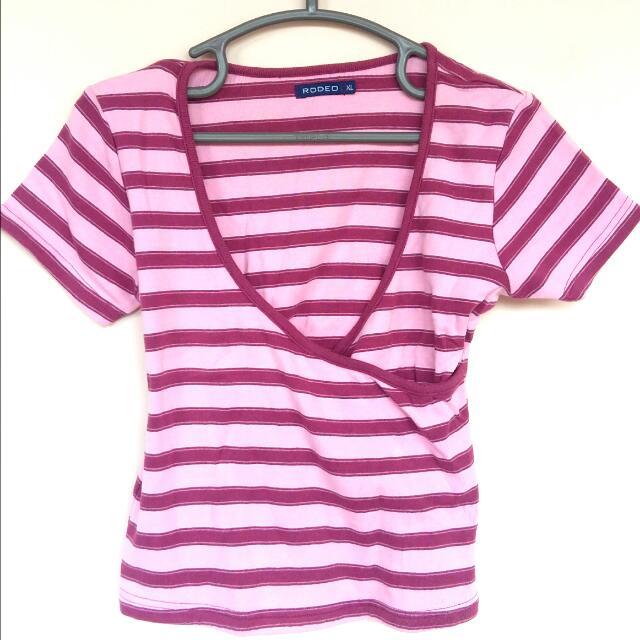 [FLASH SALE!] Pink Stripes Blouse