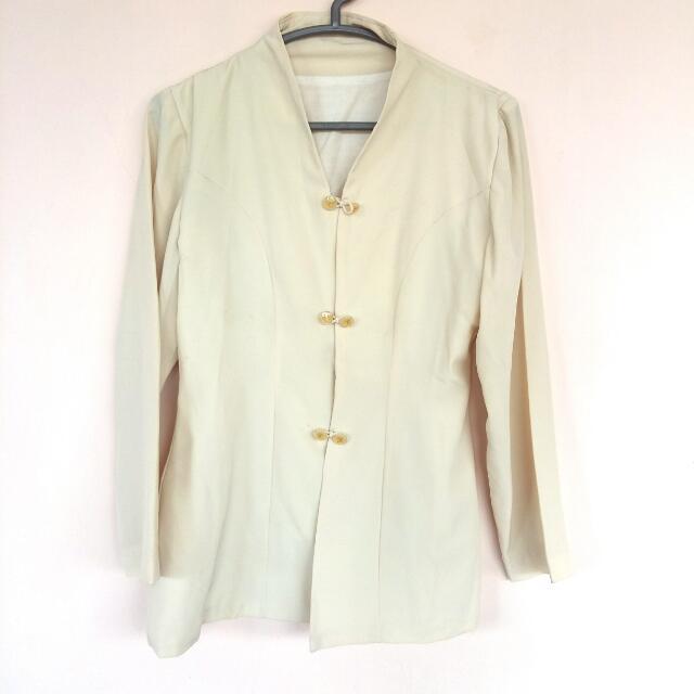 [FLASH SALE!] White Vintage Blazer