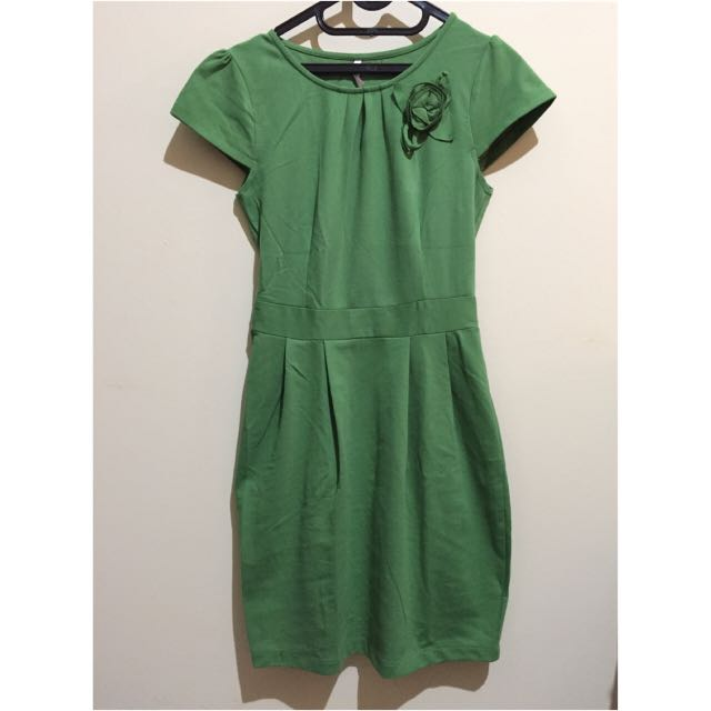 Green Puff Dress