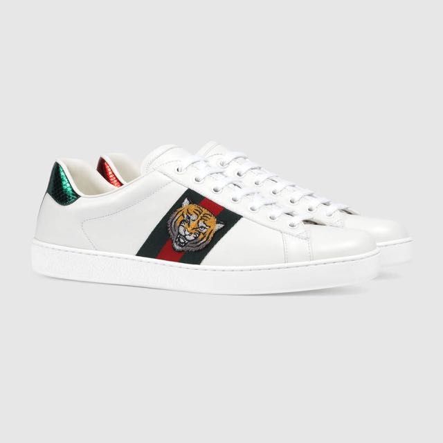 628b6a8bd99 Gucci Ace Tiger Embroidered Sneaker (101% Authentic)