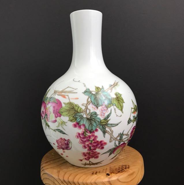 Hand-Painted Porcelain Vase