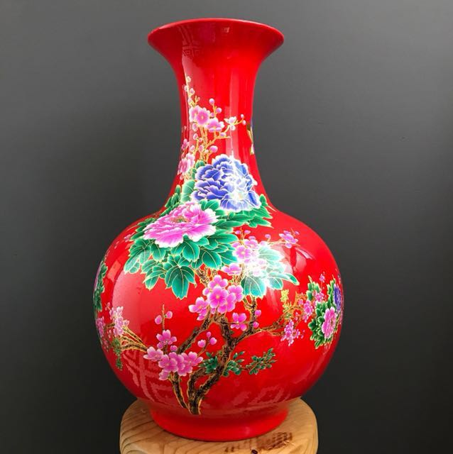 Hand-Painted Porcelain Vases