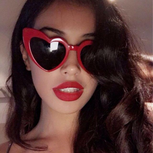 Heart Cat Eye Sunglasses