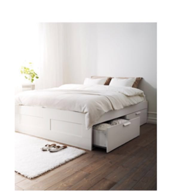 Ikea Brimnes Bed Frame With Storage, Ikea Brimnes Queen Bed With Storage