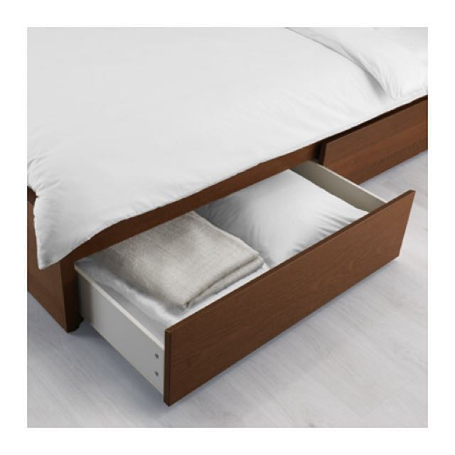 Ikea Malm Bed storage