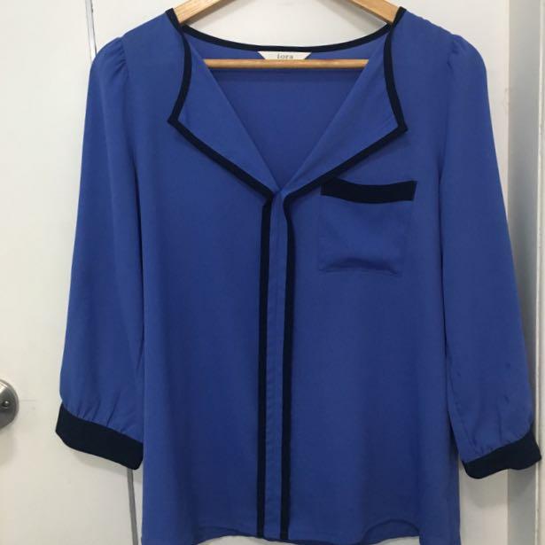 Iora blue blouse