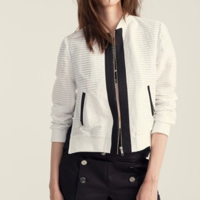 iroo saint Laurent 感白色飛行外套夾克