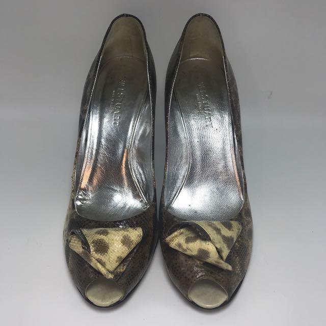 Jill Stuart ORI Peep Toes Pumps Lizard size 39 9 Sepatu Hak Cewek SHOE SHOES