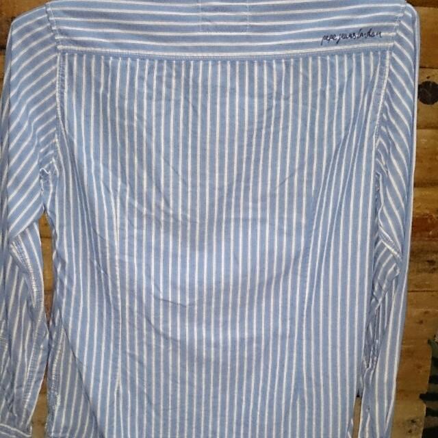 Kemeja Denim Brand Pepe Jeans London Fesyen Pria Pakaian Di Carousell