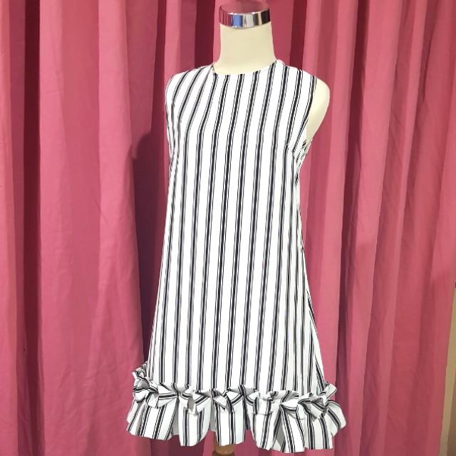 Label8 ruffle stripes dress
